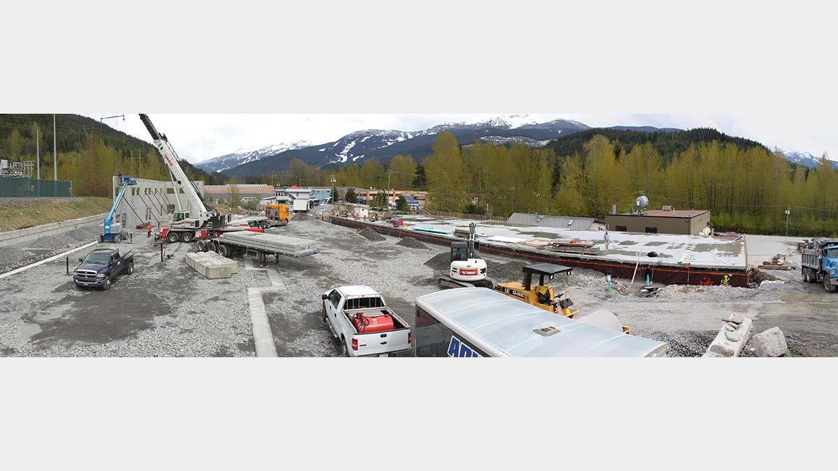 1330 Alpha Lake Road Whistler tilt-up concrete construction project