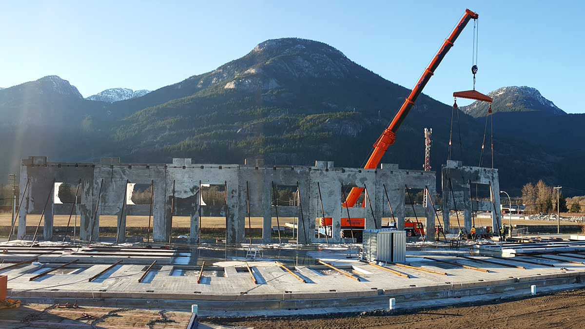 Lot 32 Queens Way Squamish tilt-up concrete construction project