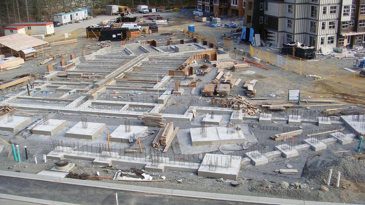 The Falls Cheakamus tilt-up concrete construction in Whistler