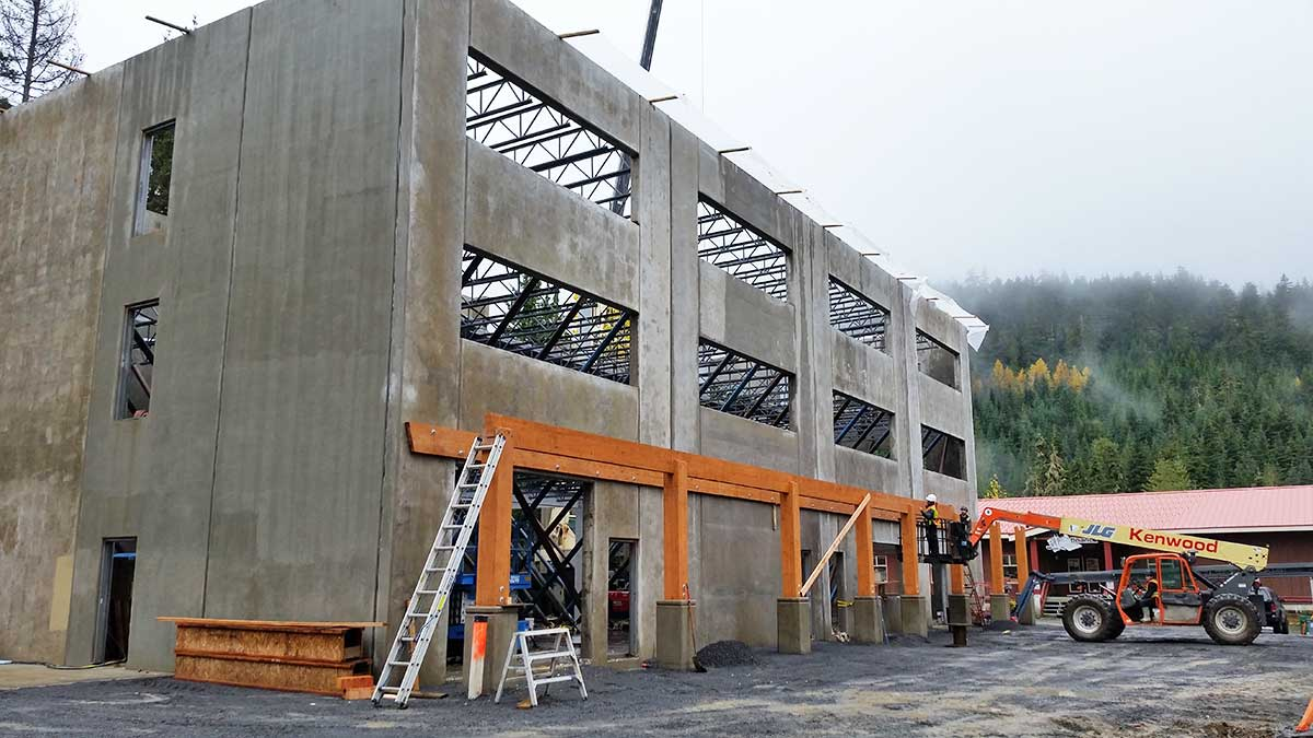 Whistler Blackcomb Admin Building tilt-up concrete construction in Whistler