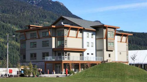 Whistler Hostel tilt-up concrete construction project